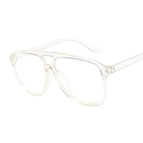 YOULIER Gafas de sol cuadradas para mujer, diseño clásico, colores femeninos, transparente