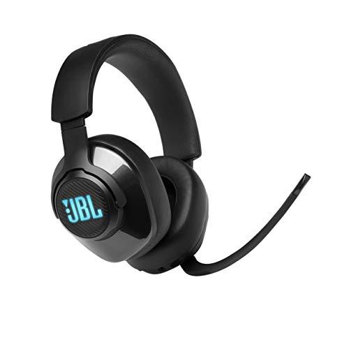 JBL Quantum 400 Over-Ear Gaming Headset - Wired 3,5 mm Klinke und USB - Mit hochklappbarem Boom Mic und QuantumSurround Sound - Schwarz