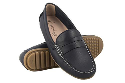 Zerimar Mocasines Mujer de Piel | Loafer Mujer | Mocasines Mujer Verano | Mocasin Mujer | Mocasin Mujer Piel | Zapatos Casuales Mujer