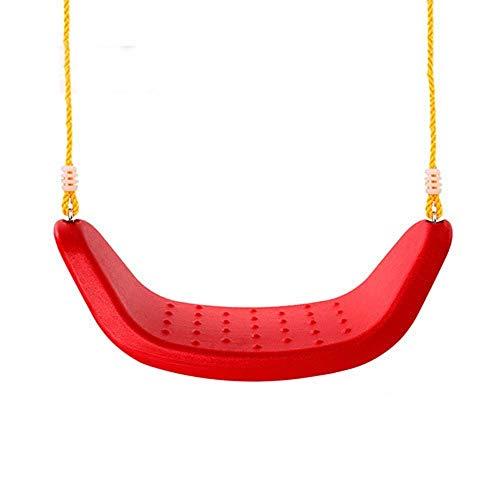 Office Life Columpio para niños Columpio para niños Asiento para juegos Columpio para interiores Adecuado para niños, niñas, cadena de servicio pesado, revestimiento de plástico (Color: Rojo, Tamañ