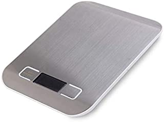 ميزان مطبخ رقمي بشاشة LCD مضاد للبصمات من الستانلس ستيل، 5000 غرام/ 1 غرام، وفق الموازين الكهربائية وموازين الطعام