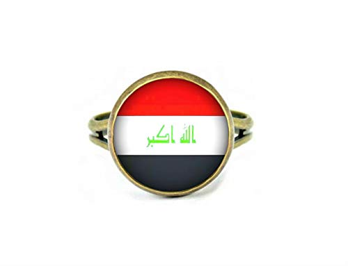 Xubu Nationale Symbool Vlag Sieraden, Iraakse Vlag Ringen, Nationale Vlag Ringen