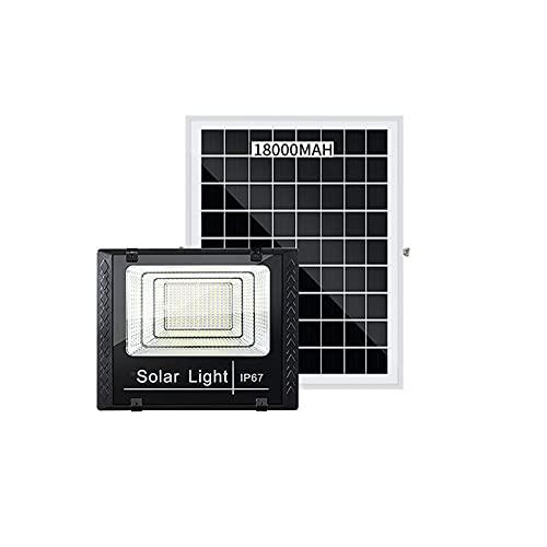 Proiettori solari Sensore da esterno, Proiettori solari da esterno Impermeabile IP67,8500mAH-24000mAH Batteria a lunga durata, Lampada da parete solare in vetro temperato (Size:180W,Color:luce solare)