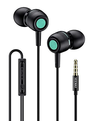 VEENAX M3 Auriculares In Ear, Auriculares con Cable y Micrófono, Estéreo Cascos...