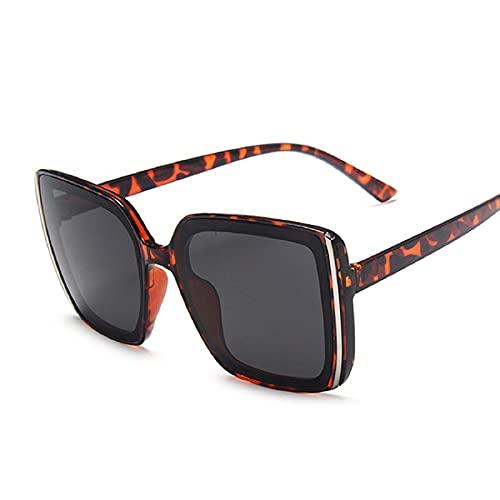 NBJSL Gafas De Sol Cuadradas De Gran Tamaño Para Mujeres, Hombres, Gafas De Sol De Moda (Caja De Embalaje Exquisita)