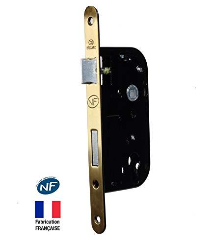 Bricard 2608 - Cerradura empotrable para Puerta de Entrada (Eje de 50 mm, Norma NF, Color Negro)