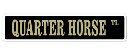 Quarter Horse Letrero, caballos agricultor granja americano