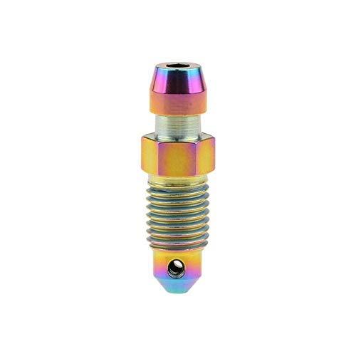 Threaded Titanlegierung Ti M8 M10 Bolzen P1.0 1,25 mm for Motorrad Bremssattel Ölablass Deflations Schrauben (Farbe: Regenbogen, Länge: 1,0 mm) äußerlich