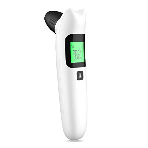 Thermometer for Adults, Touchless Forehead Thermometer for Fever, Digital Infrared Thermometer, Temporal No-Touch Kid and Baby Thermometer with 2 AAA Batteries