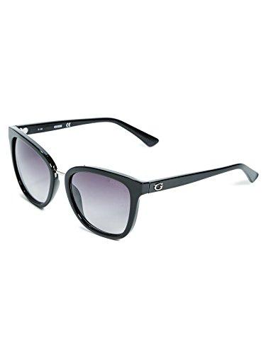 Guess Sonnenbrille GF6005 5501B Gafas de sol, Negro (Schwarz), 55 para Mujer