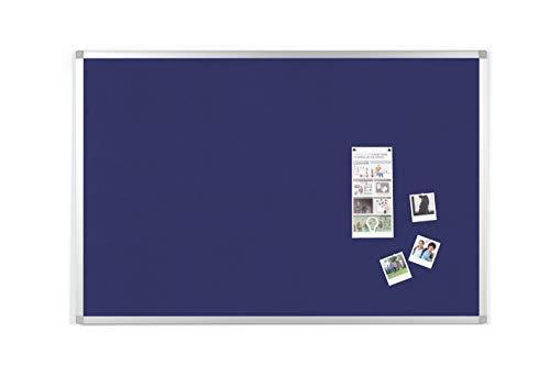 BoardsPlus Tablero De Anuncios Con Marco De Aluminio, 90x60 cm, Azul