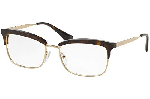 Prada VPR08S Brillen 55-17-140 Havana Braun Mit Demonstrationsgläsern 2AU1O1 PR 08SV PR08SV VPR 08S