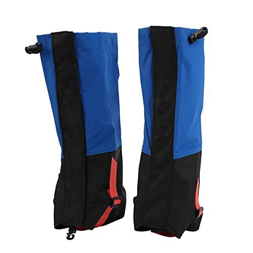 Polainas para Botas, Zapatos Transpirables portátiles Multiusos Polainas para Senderismo para Cruzar el Desierto para Deportes de Nieve para Acampar para Esquiar(Azul)