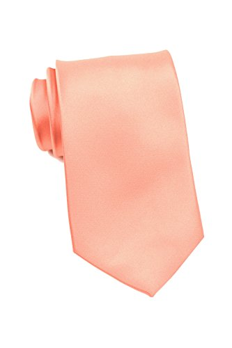 PUCCINI schmale Krawatte│6cm skinny slim Tie/Hochzeitskrawatte/Plastron/Schlips │ uni/einfarbig: Rosa