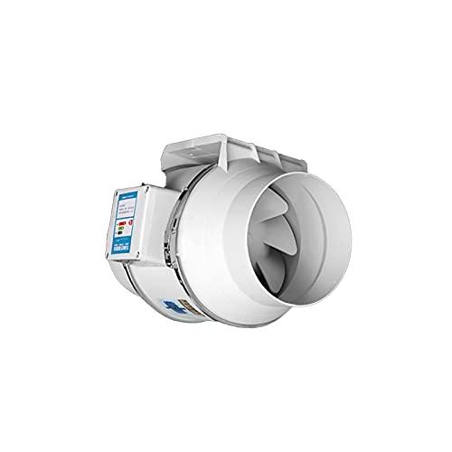 KaiLangDe 6〞8〞10〞12〞 Extractor Aire SilenciosoCon Controlador De Velocidad Remoto Ajustable Ventilador De Conducto De Ventilación En Línea para Baño Hidropónicos Fan Pared Ventilación Baño Silencioso