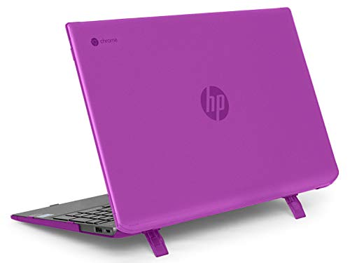 mCover Hard Shell Case for Late-2019 15.6' HP Chromebook 15-DExxxx Series (NOT Compatible with Smaller HP C14 / C13 / C11 Series) laptops (HP C15-DE Purple)
