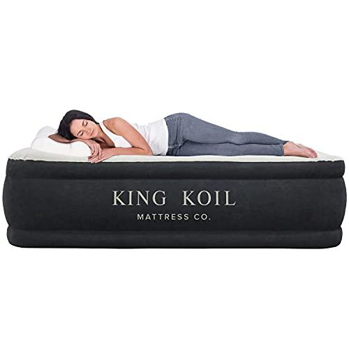 King Koil Queen Air Mattress with Built-in Pump - Best...