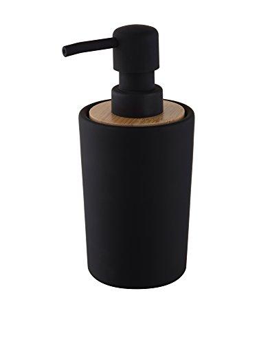 Bisk Nice Sea Plain Design-Seifenspender, freistehende Kollektion, schwarz, 7,5x 8,5x 16,5cm