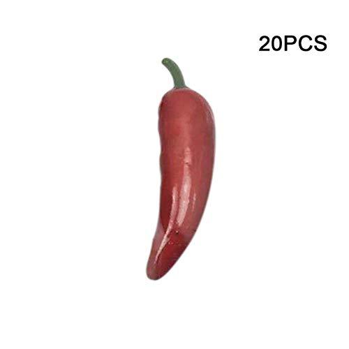 LSCC 20 Pz/Set Miniatura Frutta Verdura Cucina Artificiale Falso Melanzane Cetriolo Arredamento per La Casa Giocattolo Cucina per Ragazze, B