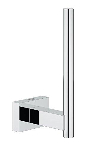 Grohe 40623001 Porta Rotolo di Scorta Essentials Cube, Grigio (Cromo), Large
