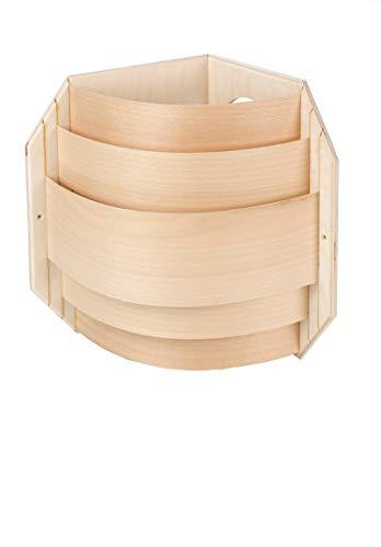 Blendschirm mit Spanstreifen für Eckmontage für Sauna Leuchte