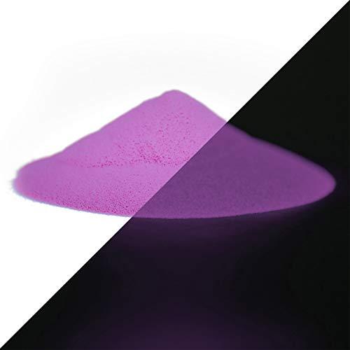 lumentics Premium Leuchtpulver Purple 40g - Im Dunkeln leuchtendes Farbpulver. Nachleuchtend, phosphoreszierend, fluoreszierend und nachleuchtend. UV Pigmente für Farbe, Harz, Lack