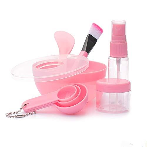 NZQMMW Costumes Bol Masque coréen Outils de Bricolage claquent beauté Portables en Plastique Neuf Costumes (Color : Pink)