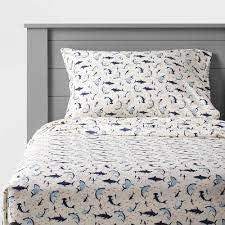 Queen Shark Microfiber Sheet Set New Sales results No. 1 Shipping Free Pillowfort -