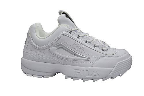 Fila Hombres - Disruptor II Premium Repeat - Triple Blanco - 1FM00439, color Blanco, talla 42 EU