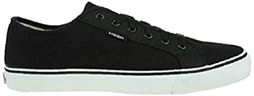 Vision Street Wear Shoes Optic 13 Low Skate Schuh, Schwarz - schwarz / weiß - Größe: 42 1/3 EU