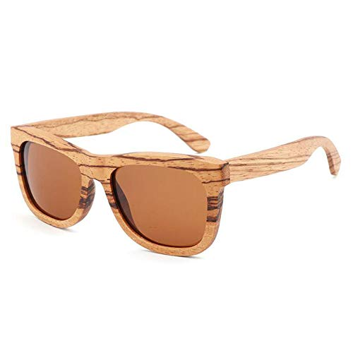 PZXY Holz Sonnenbrillen Zebra-Holzrahmen Personality Outdoor Polarized UV-Schutzbrillen für Männer und Fraue