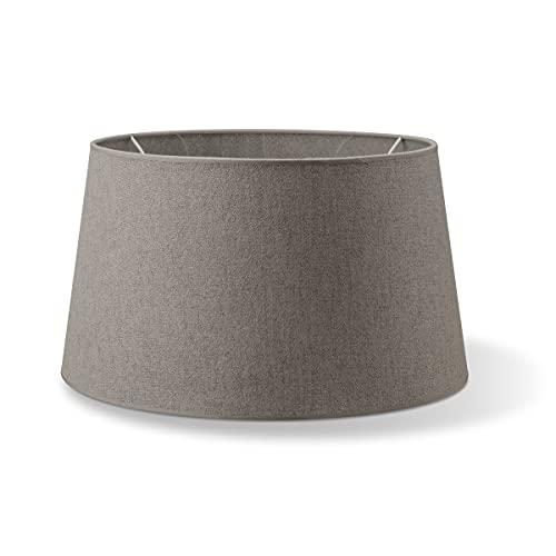 Lampenschirme rund   Melrose   Textil Lampenschirme   Lampenschirme konisch   E27 Fassung   Durchmesser 45cm Höhe 24cm   Grau   geeignet für alle Innenraumen IP20   Ohne Leuchtmittel