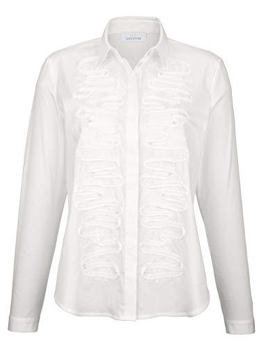 Just White Bluse mit dekorativer Applikation Pflegeleicht 44