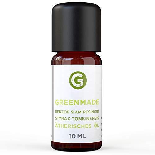 Benzoe Siam Resinoid Öl 10ml - 100% naturreines, ätherisches Öl von greenmade