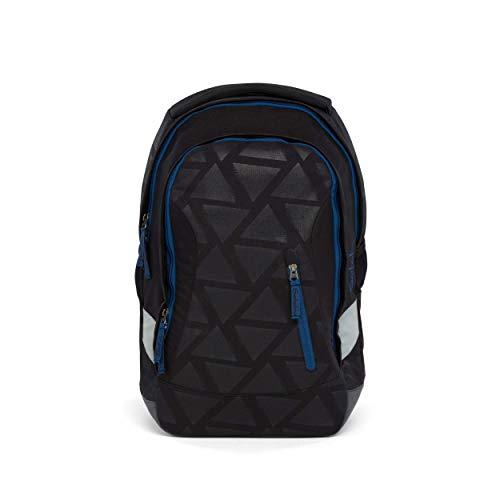 satch Sleek Black Triad, ergonomischer Schulrucksack, 24 Liter, extra schlank, Schwarz