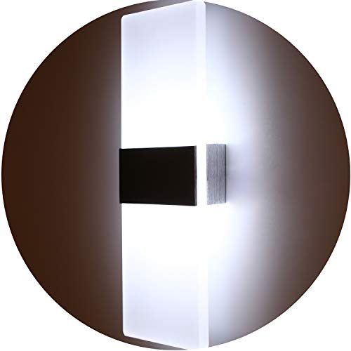 Topmo Modern Acrylic 12w LED Wall Sconces Aluminum Lights Decorative Lamps Night Light for Pathway, Staircase, Bedroom, Balcony,Drive Way,840LM,Cold White (6000K),29x11x4.8CM (Cold White)