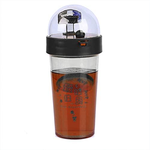 Copa De Agua De Baloncesto De 500 Ml Protección Del Medio Ambiente Botella De Bebida De Viaje De Tiro Deportivo Divertido Portátil De Gran Capacidad Negro