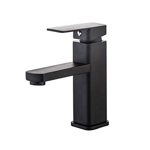 Grifo de lavabo de baño cuadrado sólido, salida de filtro,