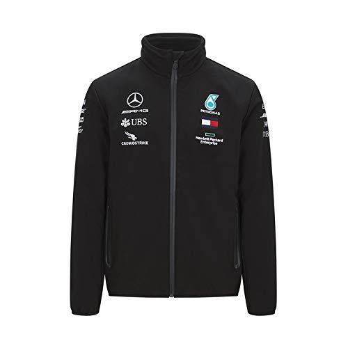 Officiële Formule 1 Merchandise - Mercedes-AMG Petronas 2020 - Team Softshell Jas - Team en sponsorlogo's - Zwart - Maat: XS