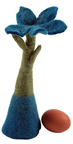 Guru-Shop Vilten Eierwarmer Tafelversiering `Bloem, Turquoise, Kleur: Turquoise, Keukenaccessoires en Diversen