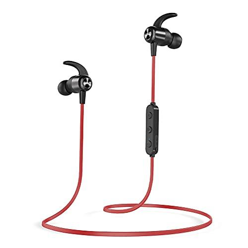 Cuffie Bluetooth, Auricolari Bluetooth Senza Fili, Auricolari Bluetooth con CVC 8.0 Microfono Incorporato, 20 Ore di Tempo di Utilizzo, IPX7 Impermeabili, Cuffie Bluetooth Sport, per Corsa, Fitness