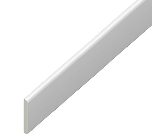 95mm uPVC Architrave - Plastic Skirting Board - 1m