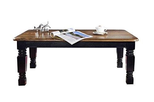 Table Basse 118x70cm - Bois Massif de Palissandre laqué - Inspiration Coloniale - New Boston #201
