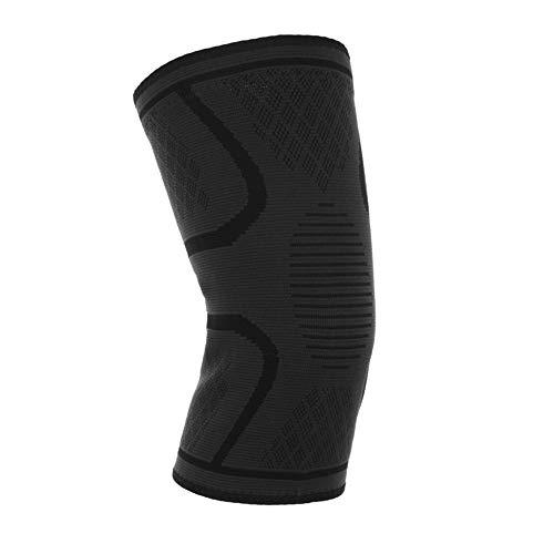 MOPOIN Set di 2 ginocchiere elastiche per ginocchio da uomo e donna, con strisce antiscivolo per corsa, trekking, jogging, sport, pallavolo, calcio, basket, pallacanestro