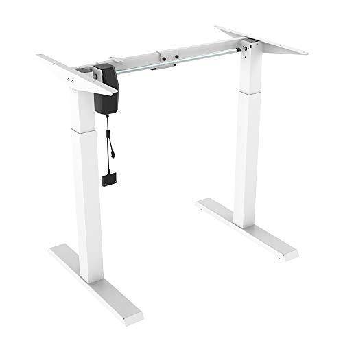 LogiLink EO0029W - elektrisch verstellbares Schreibtischgestell (Höhe 730-1230mm), 1 Motor, weiß, Elektrisch ohne Memory