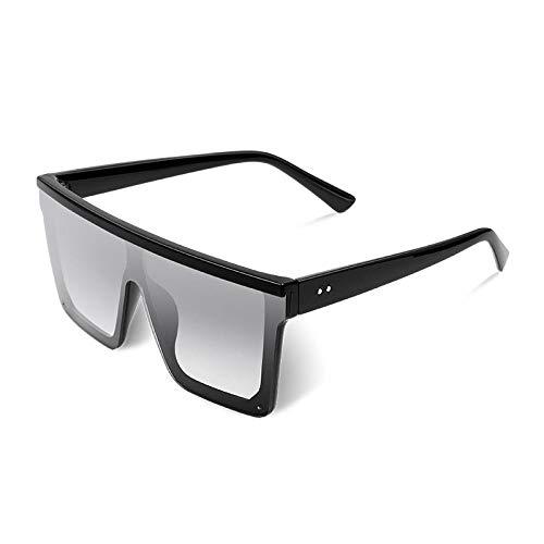 Gafas de Sol Sunglass Gafas De Sol para Mujer De Gran Tamaño Gafas De Sol De Moda Marco Grande Sombras A Prueba De Viento Hombres Gafas De Conducción Planas C3