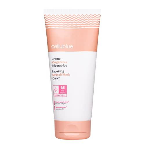 Cellublue - Crema Antiestrías | Crema Reparadora Anti-Estrías Compatible Mujer Embarazada y Lactante - 200 ml