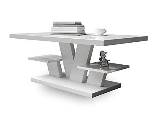Viva - Mesa de Centro - Mesa Centro Salon - Mesa Comedor 110x60x45cm - Mesa de café - mesas de Centro para el Salon - Elegante Muebles Salon Sala de Estar (Blanco)