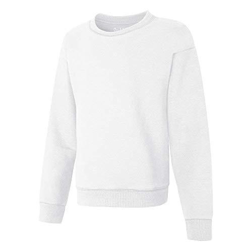 Hanes Comfortsoft Ecosmart - Sudadera de Forro Polar para niñas Grandes - Blanco - Large