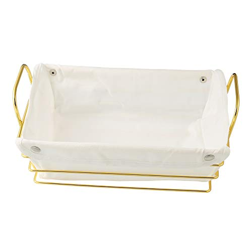 10.7 inch Fruit Bread storage basket Gold, Countertop Rack, for Vegetable, Snacks, Household Items, Kitchen Storage Organizer